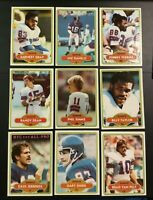 1979 & 1980 Topps NEW YORK GIANTS Team Set Lot 77 SIMMS RC,CARSON,GRAY Look WOW