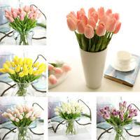 10x Künstliche Tulpe Seidenblumen Kunstblume Brautstrauß Blumen Hochzeit Deko