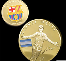 1Pc Alloy Gold Coins Collectibles Soccer Football Superstar Lionel Messi Player