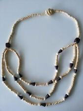bisutería Joya Mujer Cadena de madera 3fach Marrón Largo 66cm collar cadena #9