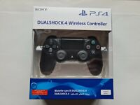 Authentic Jet Black PlayStation 4 ps4 dual shock controller v2  pad brand new