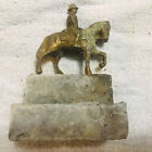 Vintage Military Monument For Train Garden- Soldier On Horse