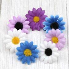 15/100Pc Artificial Silk Gerbera Flowers Daisy Sunflower Heads Wedding DIY Decor