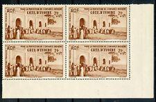 TIMBRE FRANCE COLONIES FRANCAISES NEUF BLOC DE 4 / COTE D'IVOIRE PA N° 7 **