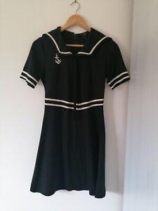 Pop Boutique Sailor Dress with Collar Detail Navy Size 2 (UK 10)