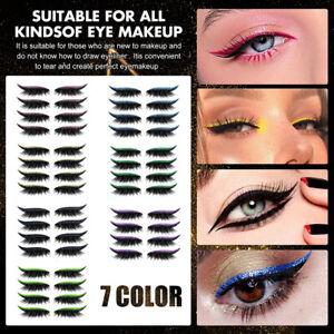 4 Pairs Reusable Eyeliner and Eyelash Stickers False Eyelashes Sequin Eye Shadow
