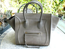 orig. CÉLINE Phantom Bag Tasche Grau Wildleder Medium