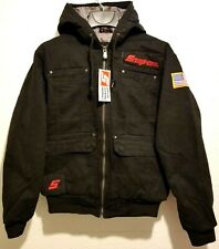 NEW Snap On Tools Men's Hooded Winter Work Jacket Coat Black Size S