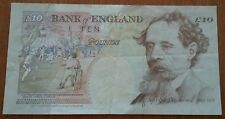 1993 GREAT BRITAIN 10 POUND Note UK Banknote CHARLES DICKENS Kentfield Signature