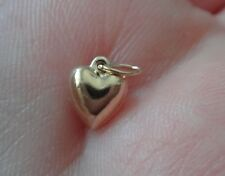 TINY 8x6mm 14K Gold filled Sterling Silver Hollow Puffy Heart Charm