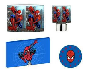 SPIDERMAN - Light Shade ,Touch Lamp, Wall Art, Wall Clock or Bundle