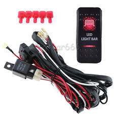 12V 40A Car LED Work Light Bar Wiring Harness Kit ON/OFF Switch Relay Cable set