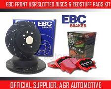 EBC FRONT USR DISCS REDSTUFF PADS 256mm FOR LOTUS ELAN (M100) 1.6 TURBO 1989-97