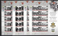 ISLE OF MAN 2005 END OF WWII SHEETLET COLLECTION UNMOUNTED MINT, MNH