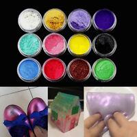 12 Color Cosmetic Mica Powder Pigment Soap Bath Nail Art Additive DIY Wax Candle