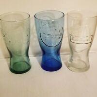 Set of 3 McDonald's Vintage Retro Colored Drink Glasses