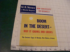 US NEWS & World Report: may 25, 1964 BOOM IN THE DESSERT 120 pgs