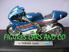 MOTO GP 1/18 YAMAHA TZ 250M TETSUYA HARADA 1994 WELLY AVEC SOCLE D'EXPOSITION