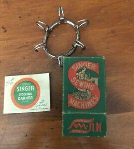 Vintage Stocking Darner No. 35776 SINGER Sewing w/ Box and Manual. Nu Way stocki