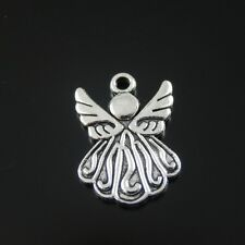 5X Vintage Silver Tone Alloy Cute Angel Wings Pendant Charm 37118 Clearance Sale
