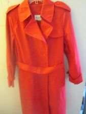 Saxton Hall ~ Double Breasted Trench/Raincoat~ Lined and Belted ~ Size 14