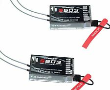 2X Ricevitore S603 DSMX e DSM2 Spektrum Compatibile Storm ricevitore. G-124 m2