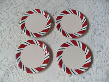 "Set of 4 Longaberger Christmas ""Peppermint Twist"" Coasters"