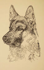 GERMAN SHEPHERD DOG #177 Stephen Kline ART DRAWN FROM WORDS your dogs name free