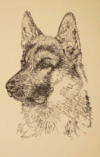 GERMAN SHEPHERD DOG #176 Stephen Kline ART DRAWN FROM WORDS your dogs name free