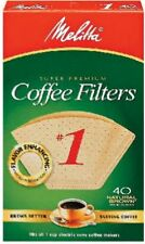 Melitta 40 Pack, Natural Brown, #1 Cone Coffee Filter 620122