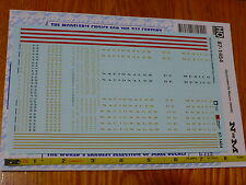 Microscale Decal HO #87-1454 Nacionales De Mexico (NdeM) decal set