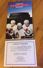 Daniel Alfredsson Signed X20 Ottawa Senators 1995 Yearbook,Quinn,Straka,Bou rque