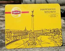 "Lipton Empty Tea Ceylon Cans ""Independence Monument"" 500 gr. 17,6 oz Limited Ed."