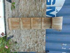 """vintage,  wooden  snow  toboggan   59 """"   nice  # 6367"""