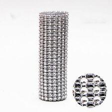 1 Yard Ribbon Crystal Diamond Wedding Roll Mesh Wrap Rhinestone Decoration