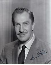 VINCENT PRICE REPRINT AUTOGRAPHED SIGNED 8X10 PICTURE PHOTO COLLECTIBLE RP