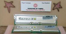 Samsung MR18R326GAG0-CT9 ECC PC1066-32P RAMBUS RDRAM (1GBx2) PAIR