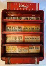 Antique Art Deco Kellogg'S Cereal Box Metal Counter Diner Hotel Display Rack