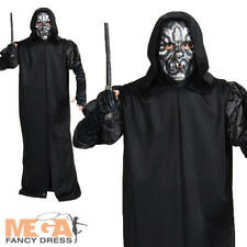 Death Eater + Mask Adults Fancy Dress Harry Potter Book Week Mens Costume Outfit