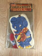 Vintage Adorable Lace n' Stuff Doll Elephant Applique in Original Package HG