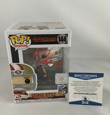 49ERS GEORGE KITTLE SIGNED FUNKO POP #144 BAS WITNESS COA #WE56334