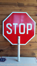 """10 Pack Stop Slow Paddle Sign 18""""X18"""" Stop/Slow Paddle Sign With Handle"""