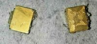 GOLD RECOVERY! 2 Golden gold plated Small Boxs for gold recovery!!!