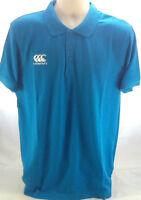 Canterbury Rugby Mens Waimak Polo T-Shirt in Malibu -  Size Large