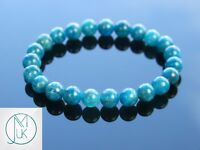 Apatite Natural Gemstone Bracelet 6-9'' Elasticated Healing Stone Chakra Reiki