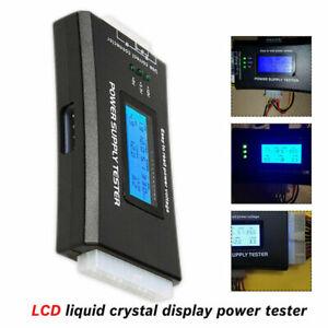 20/24 Pin PC Computer 4 PSU ATX BTX ITX SATA HDD Digital Power Supply Tester *