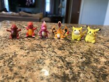 Pokemon TOMY Charmander Charmeleon Charizard PVC Pikachu Pencil Figure Lot Of 6
