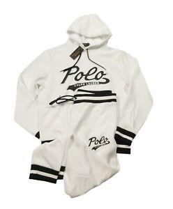 Polo Ralph Lauren Men's White Polo Logo Graphic Double Knit Hoodie & Pant Set