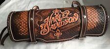 HARLEY DAVIDSON - bag leather tool roll chopper ORIGINAL  brown