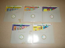 1981 Mattel Records & Boards Learning About My World Original Sleeves Lot Of 5